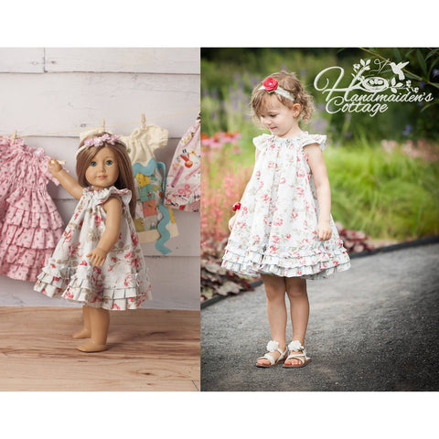 Swing Dress and Dolly Swing Dress PDF Pattern Set - Handmaiden's Cottage
