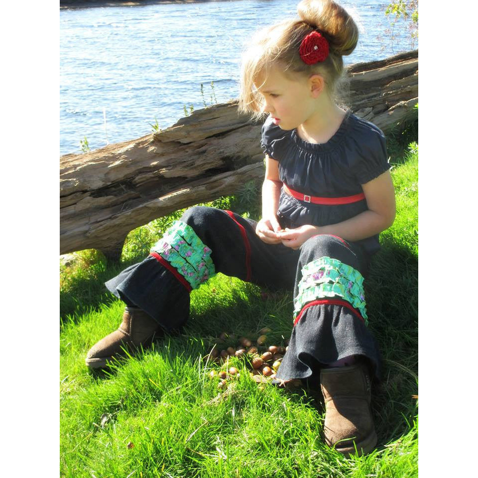 Girls Ruffled Flair Pants PDF Sewing Pattern - Handmaiden's Cottage