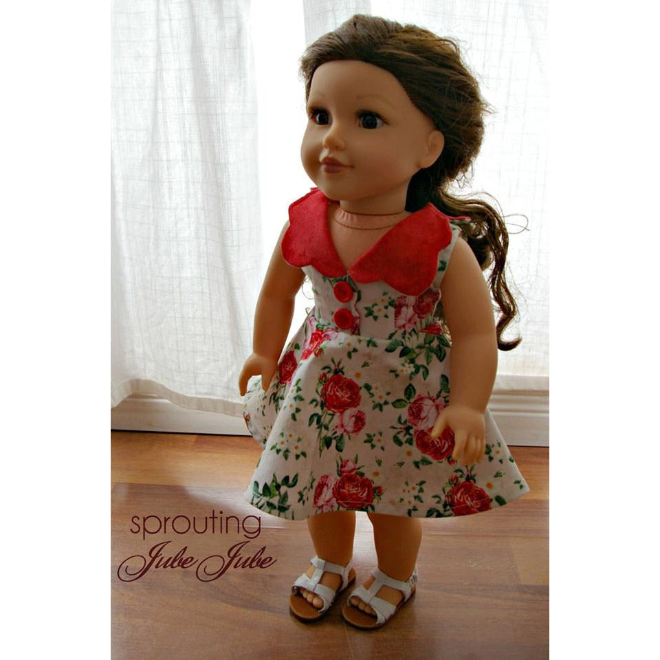 Florence Vintage Dolly Dress PDF Pattern - Handmaiden's Cottage