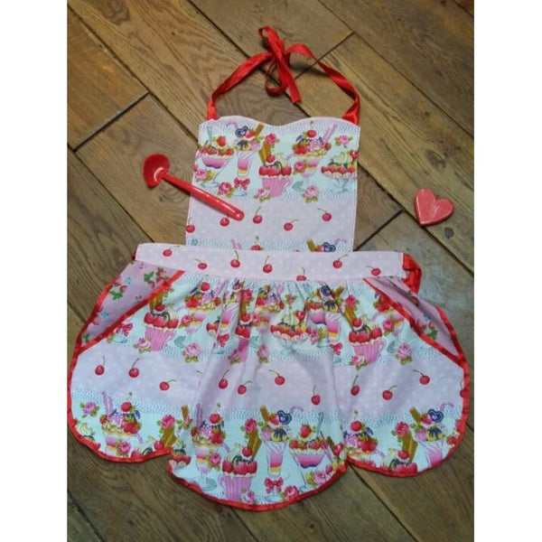 "Women and Child's with 18"" Dolly Everyday Apron PDF Pattern Set - Handmaiden's Cottage"