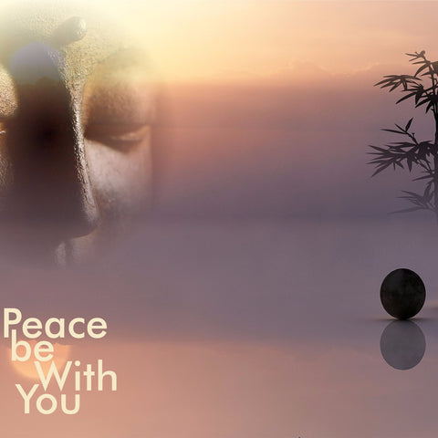 Exclusive Inspirational Buddha Canvas -  Peace Be With You