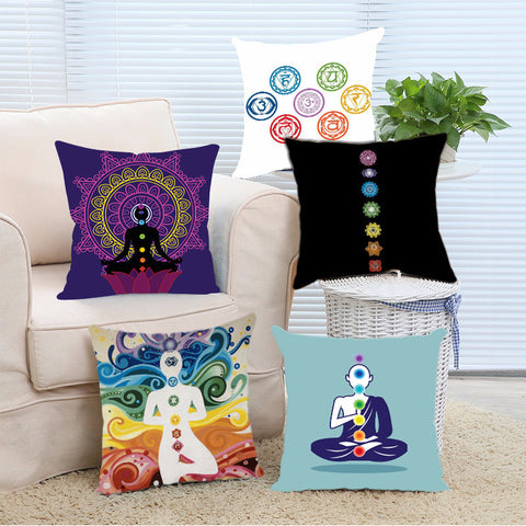 Cool Yoga Chakras Cushion Covers in plenty of designs and colors