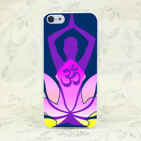 Namaste Lotus Flower Yoga Hard Case Cover for Iphones