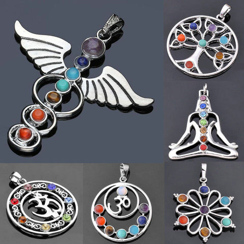 7 Chakra Stones available as a Pendant or Charms