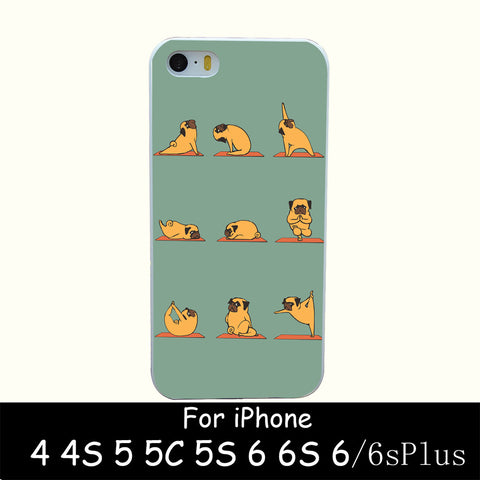 Cute Pug Yoga iPhone Case