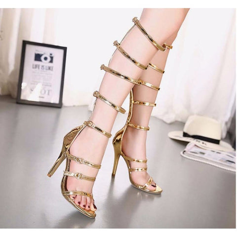 Gold Gladiators - CelebrityShoes4U