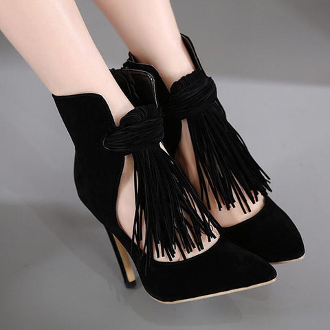 Black Tassel - CelebrityShoes4U