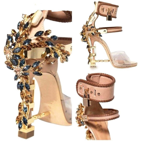 Embellished Padlock - CelebrityShoes4U