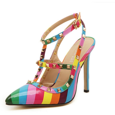 Multi Rivets - CelebrityShoes4U