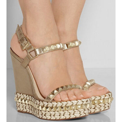 Studded Wedge - CelebrityShoes4U