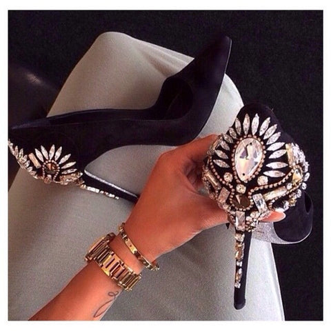 Rhinestone Heels - CelebrityShoes4U