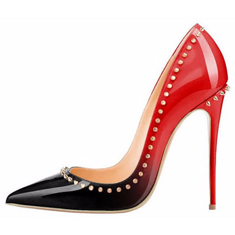Blk RedStud - CelebrityShoes4U