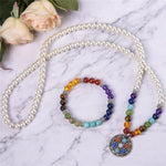 Energetic Healthy Me Chakra Necklace/Bracelet Combo