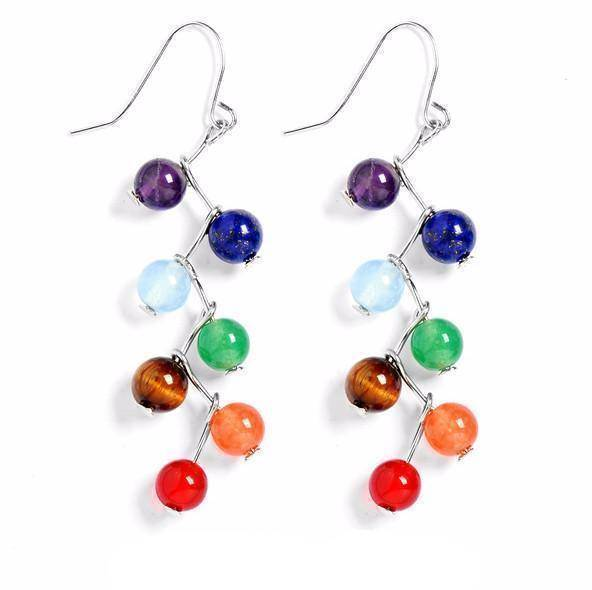 Energetic Healthy Me Drop Earrings Chakra Earrings 2702