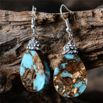 Energetic Healthy Me Drop Earrings Turquoise Teardrop Earrings
