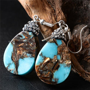 Energetic Healthy Me Drop Earrings Turquoise Teardrops