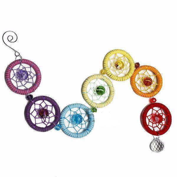 Energetic Healthy Me Home Decor Chakra Dreamcatcher