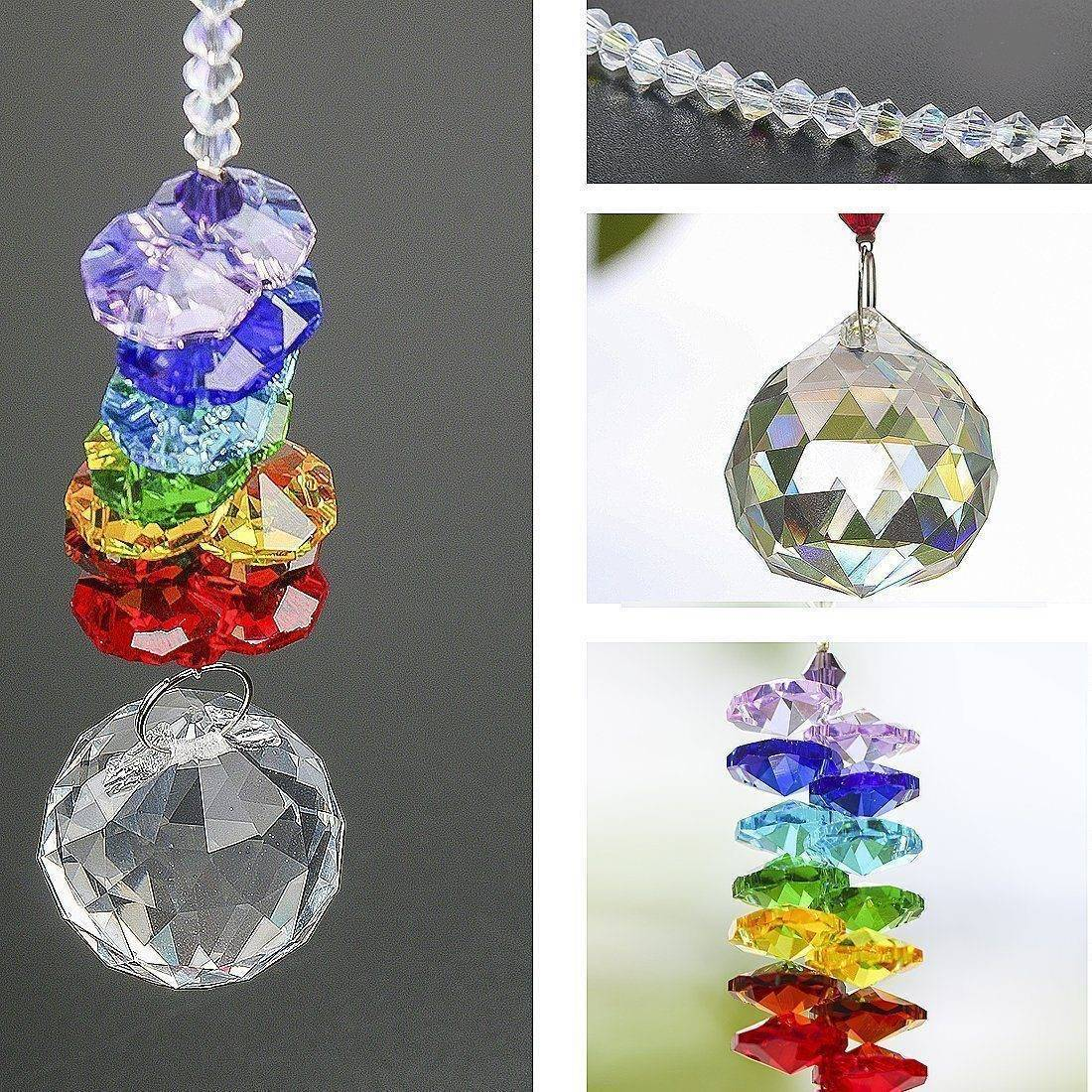Energetic Healthy Me Home Decor Chakra Prism Sun Catcher