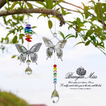 Energetic Healthy Me Home Decor Rainbow Butterfly Sun Catcher 38mm
