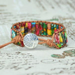 Energetic Healthy Me Leather Bracelets Peace and Happiness