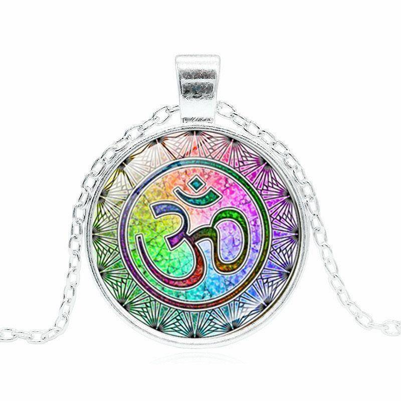 Energetic Healthy Me Pendant Necklaces Om Pendant Silver