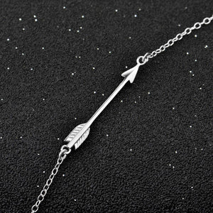 Energetic Healthy Me Pendant Necklaces Sterling Sliver Arrow Necklace