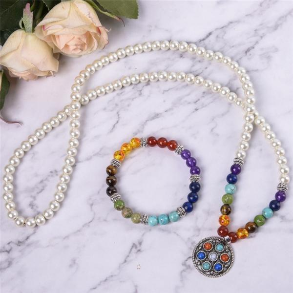 Energetic Healthy Me Power Chakra Necklace/Bracelet Combo