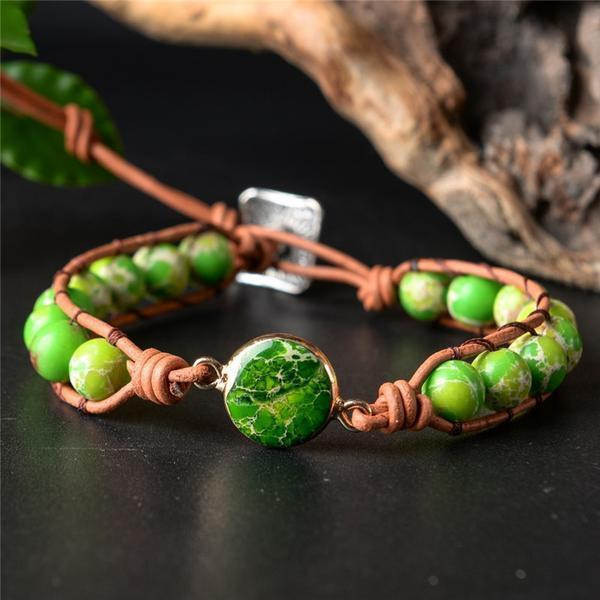 Energetic Healthy Me Stone Bracelets Adventure Is Out There Green Adventure