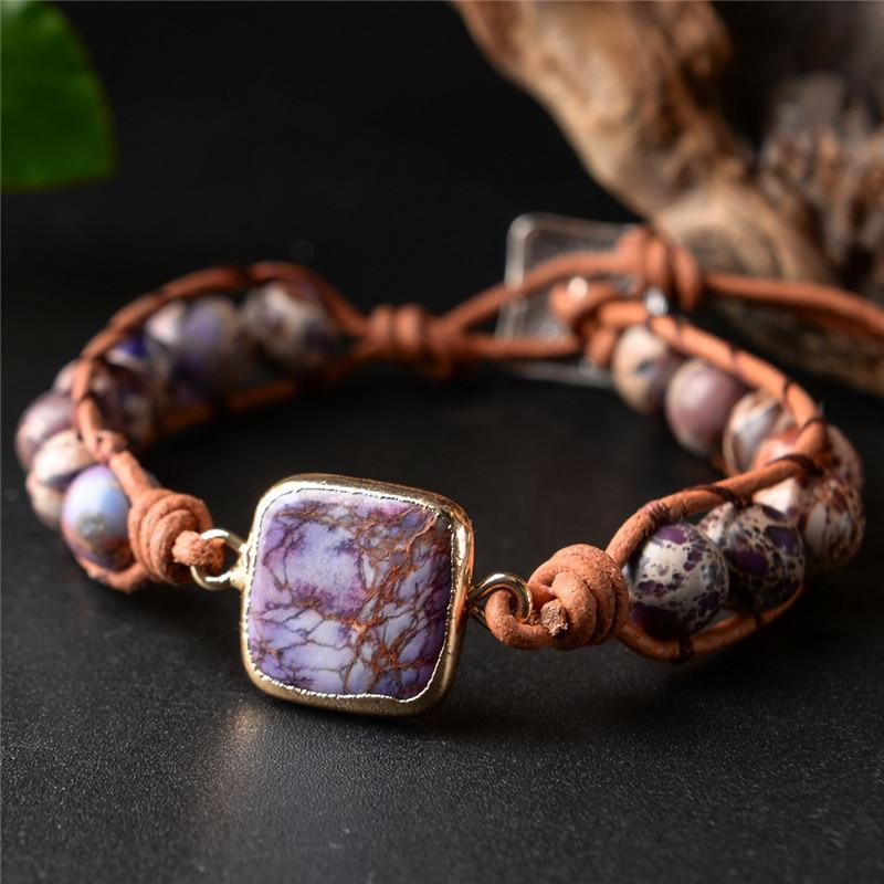 Energetic Healthy Me Stone Bracelets Adventure Is Out There Purple Adventure
