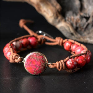 Energetic Healthy Me Stone Bracelets Adventure Is Out There Red Adventure