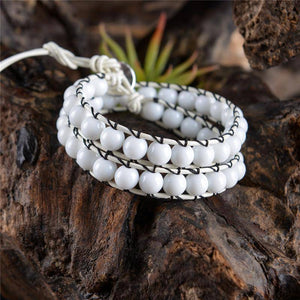 Energetic Healthy Me Stone Bracelets 'Always With Me' Bracelets White Only