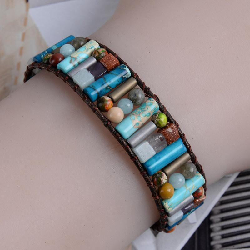 Energetic Healthy Me Stone Bracelets Ambitious Ocean