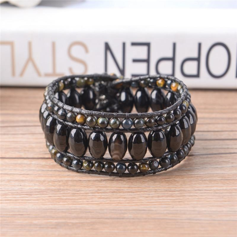Energetic Healthy Me Stone Bracelets Black Agate Power Bracelet