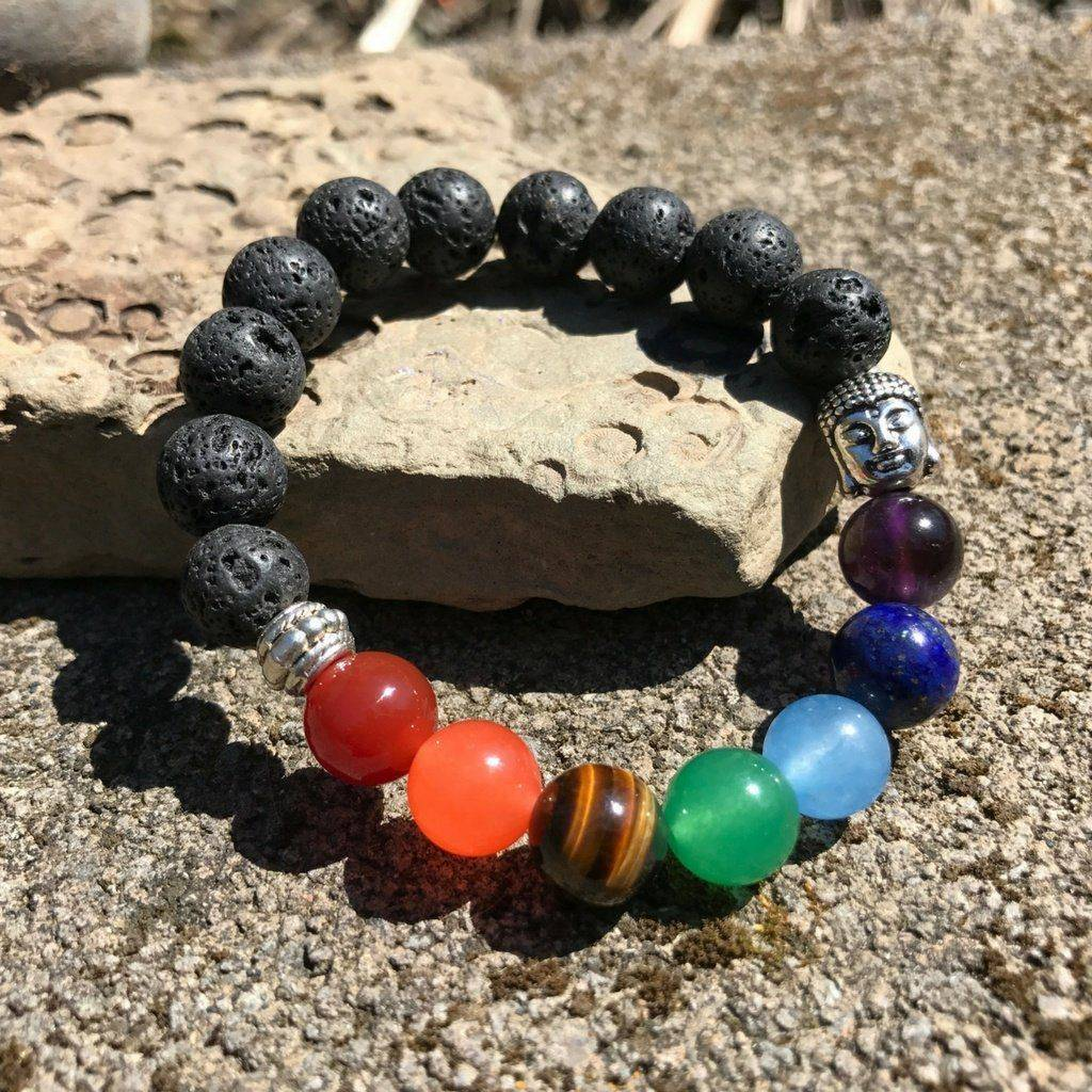 Energetic Healthy Me Stone Bracelets Buddha Chakra Bracelets, Natural Stones Amethyst