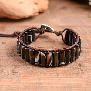 Energetic Healthy Me Stone Bracelets Earth Stone Swirl Chocolate Froth