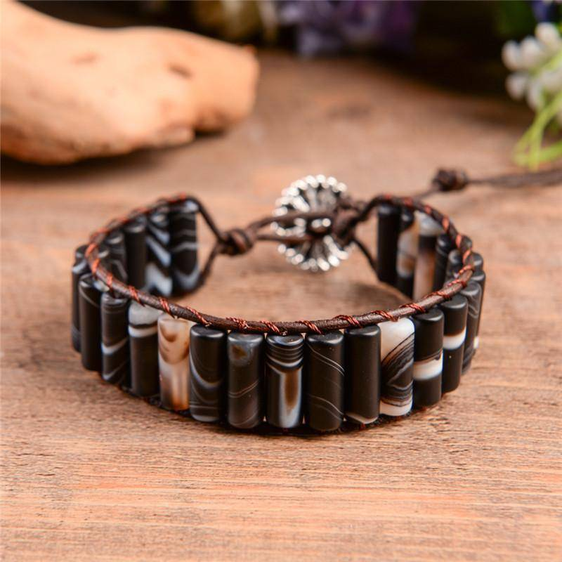 Energetic Healthy Me Stone Bracelets Earth Stone Swirl Chocolate Swirl