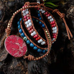 Energetic Healthy Me Stone Bracelets Fire and Ice