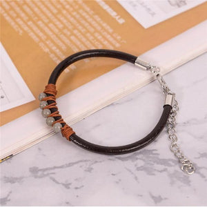Energetic Healthy Me Stone Bracelets Happy Dance Moon Gray