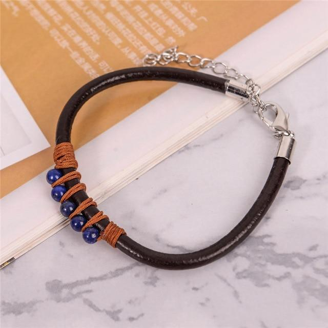 Energetic Healthy Me Stone Bracelets Happy Dance Power Blue