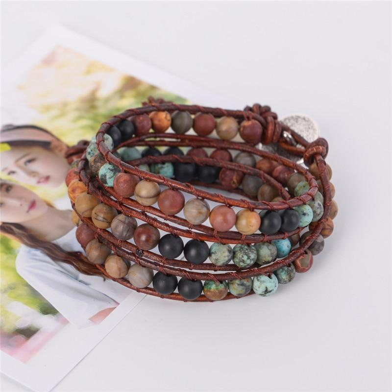 Energetic Healthy Me Stone Bracelets Into the Amazonite