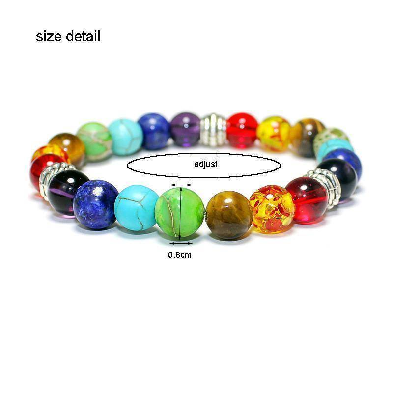 Energetic Healthy Me Stone Bracelets Multi-Color Chakra Bracelet