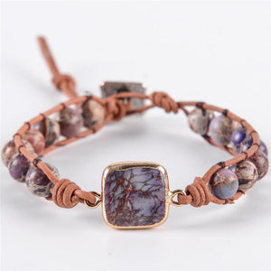 Energetic Healthy Me Stone Bracelets Purple Adventure