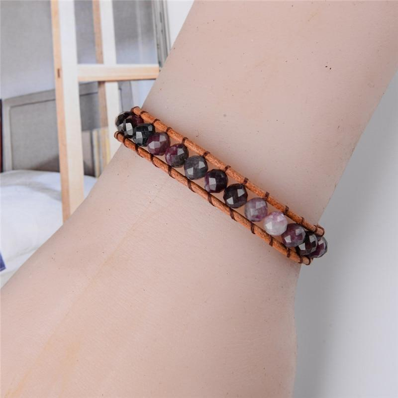 Energetic Healthy Me Stone Bracelets Purple Passion