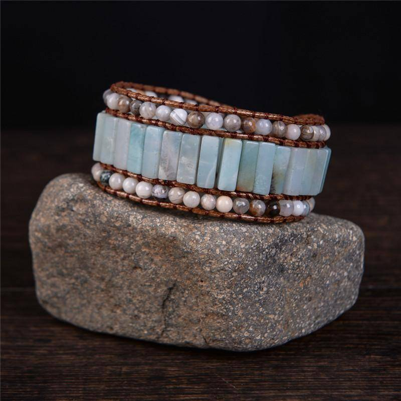 Energetic Healthy Me Stone Bracelets Queen Amazonite