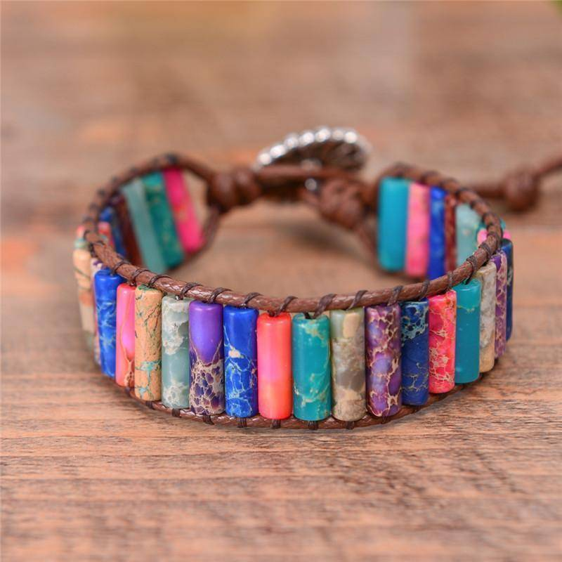 Energetic Healthy Me Stone Bracelets Rainbow Bright