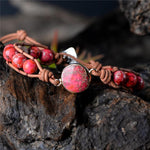 Energetic Healthy Me Stone Bracelets Red Adventure