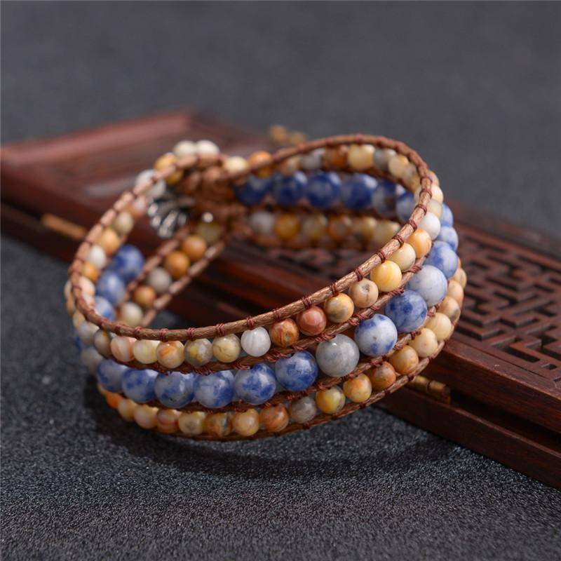 Energetic Healthy Me Stone Bracelets Sky and Earth
