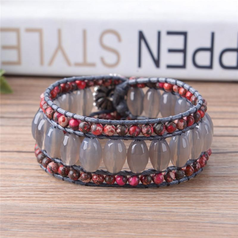Energetic Healthy Me Stone Bracelets Smoke & Fire