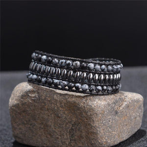 Energetic Healthy Me Stone Bracelets Smokey Midnight