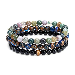 Energetic Healthy Me Stone Bracelets Three's A Charm